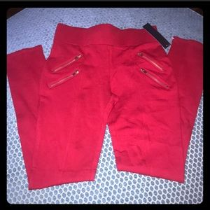 Red NWT Leggings